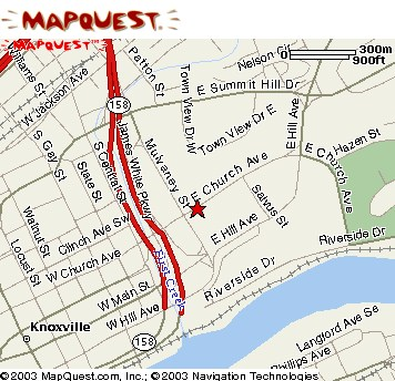 Link to Mapquest directions to Knoxville Coliseum and Auditorium